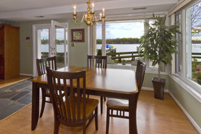 Dining Room with Deck Access & Water Views