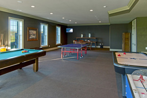 Lower Level Game Room/ Area w/ Walk-out  French Doors