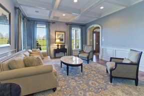 Formal Living Room & Coffered Ceiling