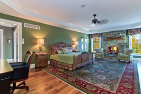 Gracious Master Bedroom Suite & Gas Stone Fireplace