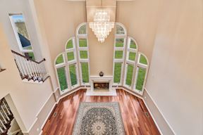 Upper Level Overlook VIew to Family Rm