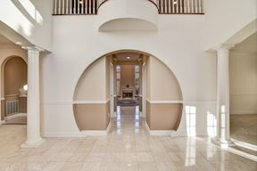 Marble Foyer w/Layered Circle Motif