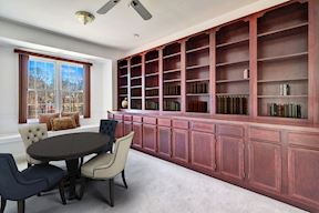 Main Level Library w/ Built-ins & Window Seat