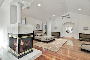 Master Bedroom Suite & Two Sided Fireplace