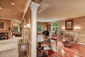 Custom Columns Leading to Living Room