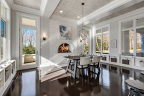 Eat-in Kitchen w/ Gas Fireplace