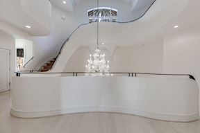 Second Level Landing w/ Serpentine Curved Overlook to Grand Foyer
