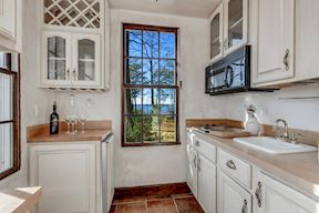 Guest House Kitchen w/ Water Views