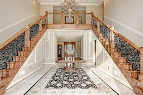 Grand Entry Foyer with Dual Staircases
