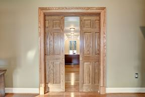 Solid Wood Pocket Doors to Master Walk-in Dressing