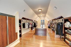 Expansive Walk-in with Built-in Suit Steamer
