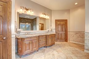 Luxury Furniture Styled Vanity, Linen Closet & Solid Wood Entry Door