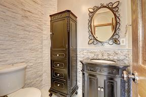 1st Main Level Powder Room Decorative Accent Wall  Tile