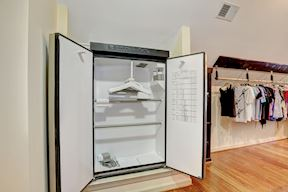 Built-in Suit Steamer- Doors Open