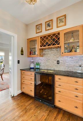 Butler's Pantry w/ Wine Fridge & Decorative Cabinetry