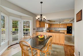 Breakfast Room with Access to Outdoor Dining Patio