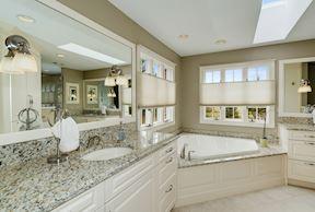 Luxury Master Bath w/ Skylight & Separate Vanities