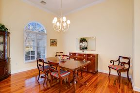 Fromal Dinning Room w/ Elegant Arched Transoms