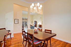 Open Plan Formal Dinning Room w/ Gleaming Hardwoods