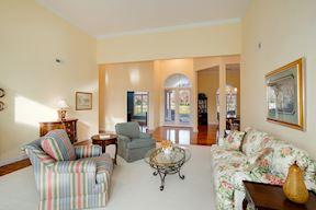 Open Plan Living Room w/ 12' Ceilings