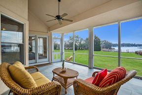 Waterside Screened Porch w/ Slider to Great Room