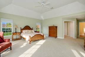 Spacious  Master Bedroom Suite w/ Tray Ceiling