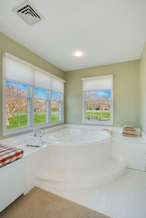 Light-Filled  Master Bath w/Corner Soaking Tub