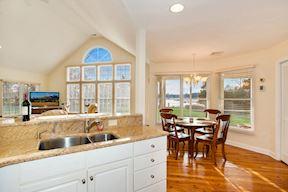 Eat-In Kitchen w/ Water-Oriented Breakfast Room