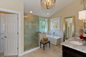 Master Suite Bath w/Freestanding Soaking Tub & Framless Shower Glass Enclosure