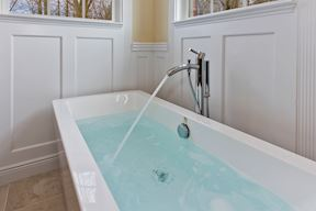 Master Suite Bath Soaking Tub and Panel Wainscoting