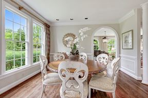 Dining Room w/ Crown Molding & Chair Railing
