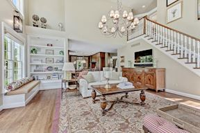 Great Room w/ Second Staircase & Built-ins