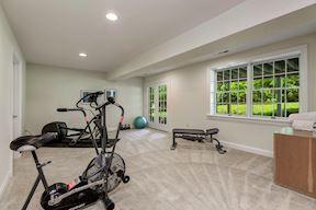 Lower Exercise Area w/Full Daylight & Rear Walkout
