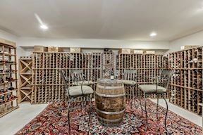 Conditioned Wine Cellar w/ 10,000 Bottle Racking
