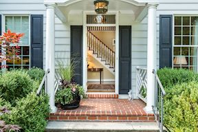 Welcoming Portico with Fretwork Rail Detail