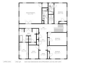 Upper Level-1 Floor Plan
