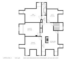 Upper Level -2 Floor Plan