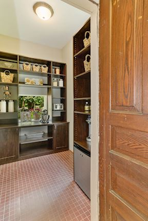 Kitchen Pantry w/ Beverage Fridge & In-Cabinet Outlets