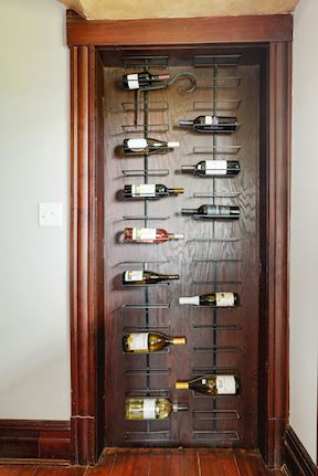 Built-In Wine Racking in Hall from Kitchen