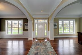 Foyer, Living Room and Dining Room