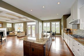 Family Room Open To The Kitchen