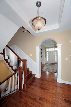Staircase and Main Level Center Hallway
