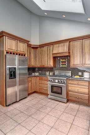 Gourmet Kitchen with Stainless Steel Professional Appliances