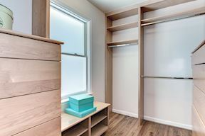 Upper Level Master Bedroom Closet with Organizers