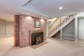 Lower Level Recreation Room with Wood Stove