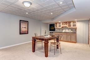 Lower Level Tasting Area and Wet Bar