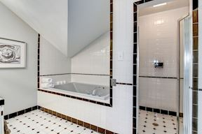 Full Bath with Separate Soaking Tub and Shower