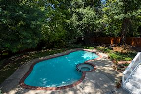 In-Ground Pool with Mature Tree Surround