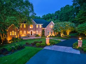 Front Exterior and Professional Night Landscape Lighting