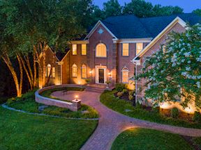 Landscape Lighting and Front Courtyard